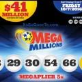 Kết Quả Xổ Số Tự Chọn Mega Millions ngày 05/10/2016