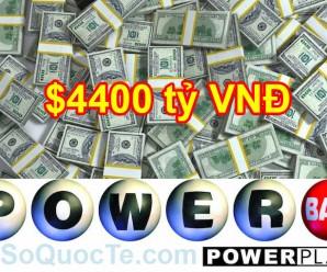 Xổ Số Powerball Lên Mốc 4400 tỷ VNĐ: Thử Vận May Của Bạn ?