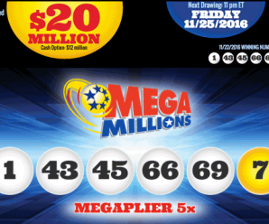Kết Quả Xổ Số Tự Chọn Mega Millions ngày quay thưởng 23/11/2016