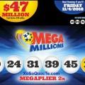 Kết Quả Xổ Số Tự Chọn Mega Millions ngày quay thưởng 02/11/2016
