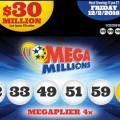 Kết Quả Xổ Số Tự Chọn Mega Millions ngày quay thưởng 30/11/2016