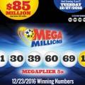 Kết Quả Xổ Số Tự Chọn Mega Millions ngày quay thưởng 23/12/2016