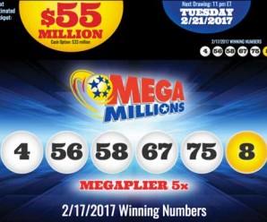 Kết Quả Xổ Số Tự Chọn Mega Millions ngày quay thưởng 17/2/2017