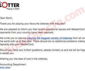 Tin Vui: Đã Có Thể Sử Dụng Thẻ Visa Debit và Master Card Để Mua Vé Số Trên TheLotter Kể Từ Ngày 22/3/2017