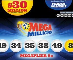 Kết Quả Xổ Số Mega Millions ngày quay thưởng 12/4/2017