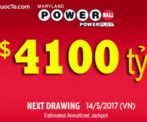 Xổ Số Powerball Chính Thức Vượt Mốc 4100 Tỷ VNĐ: Giải Thưởng Hấp Dẫn