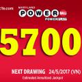 Xổ Số Powerball Tiếp Tục Thách Thức Vận May Khi Lên Mốc 5700 Tỷ VNĐ