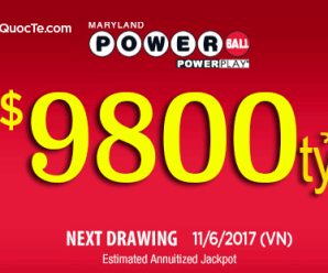 Giải Xổ Số Powerball Gần 10,000 Tỷ VNĐ Tiếp Tục Đi Tìm Chủ Nhân