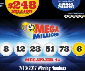Kết Quả Xổ Số Mega Millions ngày 19/7/2017: Có 1 Người Thành Triệu Phú
