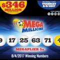 Kết Quả Xổ Số Mega Millions ngày 5/8/2017: Có 1 Người Trở Thành Triệu Phú