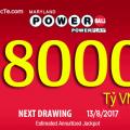 Ngày 13/8/2017: Quay Thưởng Xổ Số Powerball Trị Giá $356 Triệu USD