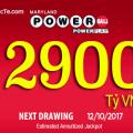 Ngày 12/10/2017: Quay Thưởng Giải Xổ Số PowerBall 2900 tỷ VNĐ