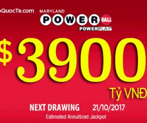 Xổ Số Powerball Lên Mốc $173 Triệu USD Tương Đương Hơn 3900 tỷ VNĐ