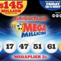 Kết Quả Xổ Số Tự Chọn Mega Millions ngày quay thưởng 29/11/2017