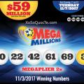 Kết Quả Xổ Số Mega Millions ngày 4/11/2017: Có 2 Người Thành Triệu Phú