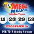 Kết Quả Xổ Số Tự Chọn Mega Millions Ngày Quay Thưởng 17/01/2018
