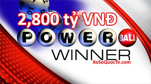 Giải thưởng jackpot powerball tăng mạnh lên mức 127 triệu đô-la-xosoquocte.com