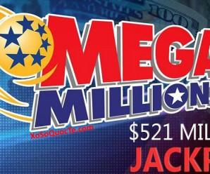 Tấm Vé Duy Nhất Trúng Giải Jackpot Mega Millions Trị Giá $521 Triệu USD Được Bán Tại Bang New Jersey