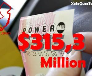 Tấm Vé Trúng Giải Jackpot PowerBall $315,3 Triệu USD Được Bán Tại Bergen County, New Jersey