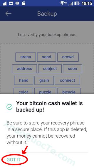 backup bitpay