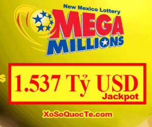 Mega Millions nói: Jackpot hôm 24/10/2018 là $1.537 Tỷ USD