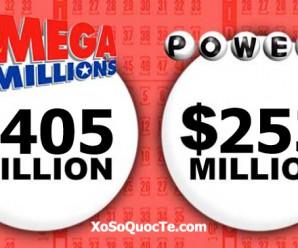 Tiếp Đà Tăng Mạnh, Mega Millions Vượt Mốc $400 Triệu USD PowerBall Đạt Mức $253 Triệu USD