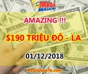 Chủ Nhân Jackpot Chưa Xuất Hiện, Mega Millions Tăng Mạnh Lên Mốc $190 Triệu USD