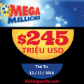 Xổ số Mega Millions lên mốc $245 triệu đô-la. Thử vận may của bạn!