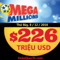 Xổ số Mega Millions khẳng định vai trò dẫn đầu khi tăng mạnh lên mốc $226 triệu USD