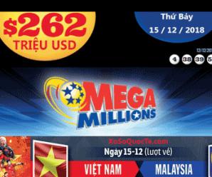 Người hâm mộ hào hứng khi Mega Millions lên mức $262 triệu USD trước thềm trận chung kết lượt về Việt Nam – Malaysia