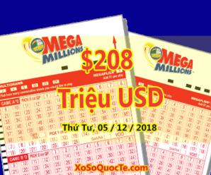 2 Người Thành Triệu Phú, Mega Millions Chính Thức Tăng Lên Mốc $208 Triệu USD