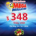Ba Triệu Phú xuất hiện sau đêm Noel, Mega Millions tiếp tục lên $348 triệu USD