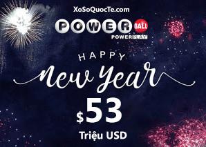 Ba người trúng giải Triệu Đô, Powerball chào năm mới với Jackpot $53 triệu USD