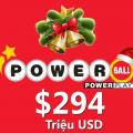 Jackpot Powerball lên mốc $294 triệu USD, Cùng hy vọng vào điều kỳ diệu Noel này!