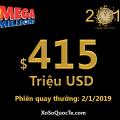 Bảy giải Triệu Đô, Mega Millions mở đầu 2019 với jackpot khủng $415 triệu USD