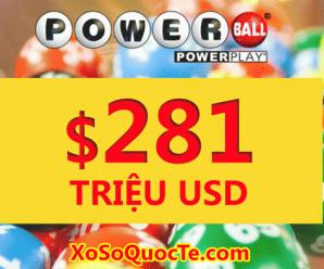 Tăng Mức Thưởng lên $281 Triệu Đô, Powerball theo sát Mega Millions