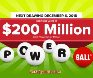 Tiếp Bước Mega Millions, Xổ Số Powerball Chinh Phục Mốc $200 Triệu USD