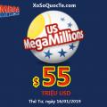 Hai người trúng giải Triệu Đô; xổ số Mega Millions nâng Jackpot lên $55 triệu USD