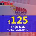 Chính thức lên mốc $125 triệu USD; Jackpot Mega Millions đang ngày càng HOT hơn
