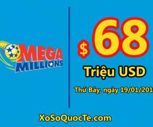 Jackpot chưa nổ, Mega Millions tiếp tục lên mốc $68 triệu đô-la