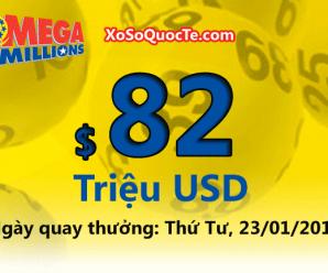 Kết quả xổ số Mega Millions ngày 19/01/2019 ; $82 triệu đô-la cho jackpot sắp tới