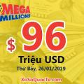 Megaplier 5X xuất hiện – xổ số Mega Millions chạm mốc $96 triệu đô-la