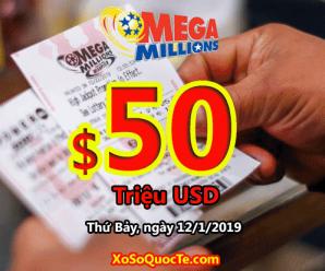 Kết quả xổ số Mega Millions 09/01/2019: Ai sẽ là chủ jackpot $50 triệu USD tiếp theo?