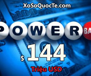 Một giải $1 triệu đô; Rộn ràng jackpot Powerball lên mốc $144 triệu đô-la