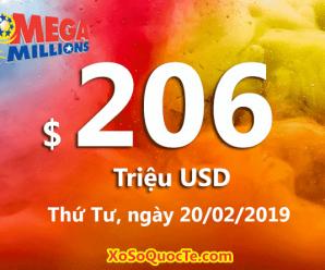 Jackpot chạm đầu 2; Mega Millions đã trị giá tới $206 triệu đô-la