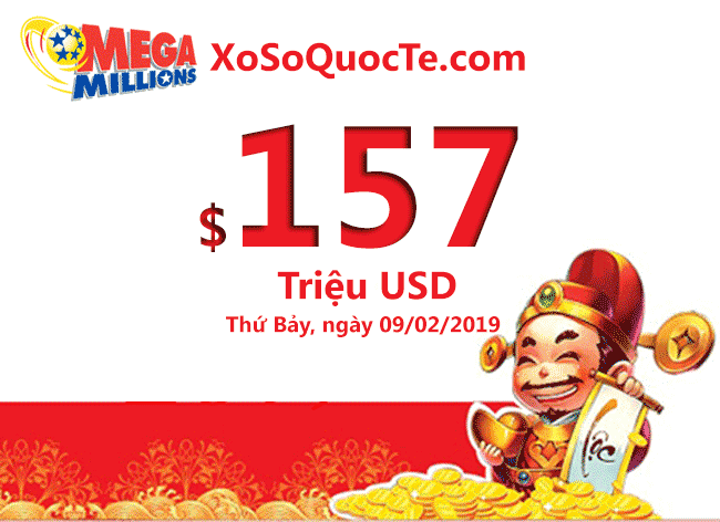 xo so mega millions 157 trieu usd