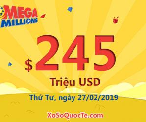 Bốn người nhận giải nhất Triệu Đô; xổ số Mega Millions lên $245 triệu USD