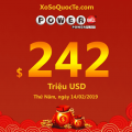 Bốn người trở thành triệu phú; Powerball đẩy giá trị jackpot lên $242 triệu USD