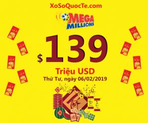 Rộn ràng jackpot xổ số Mega Millions đầu xuân Kỷ Hợi lên tới $139 triệu USD