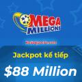 Chưa có người trúng, Xổ số Mega Millions tiếp tục tăng lên $88 Triệu USD